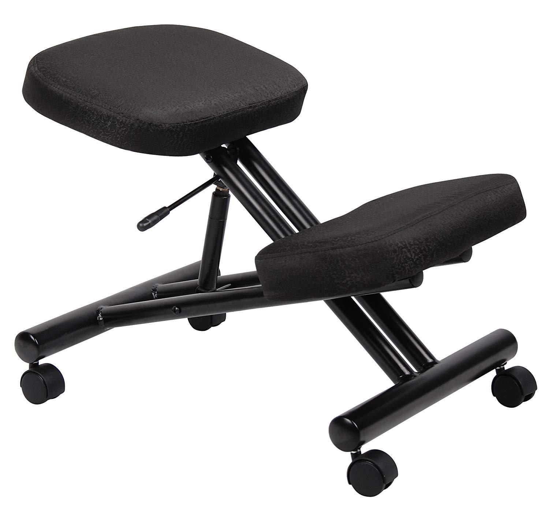 Boss Office Products B248 Ergonomic Kneeling Stool in Black