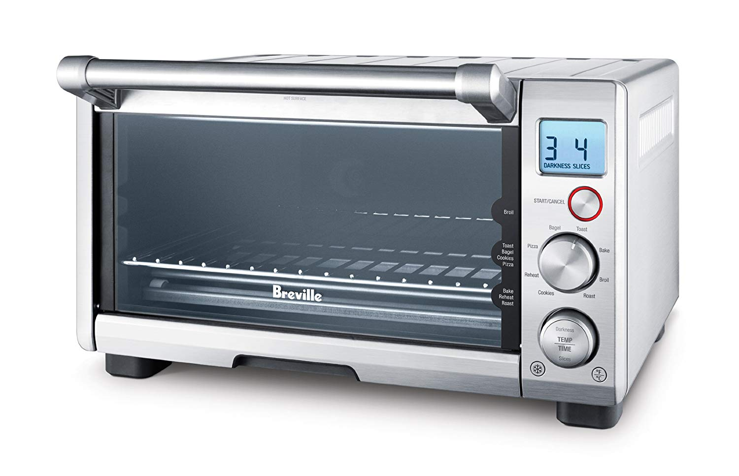 BREVILLE the Compact Smart Oven, Countertop Electric Toaster Oven