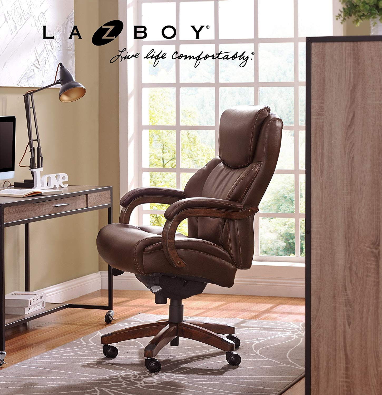 La-Z-Boy Delano Big & Tall Executive Bonded Leather Office Chair - Executive Chairs