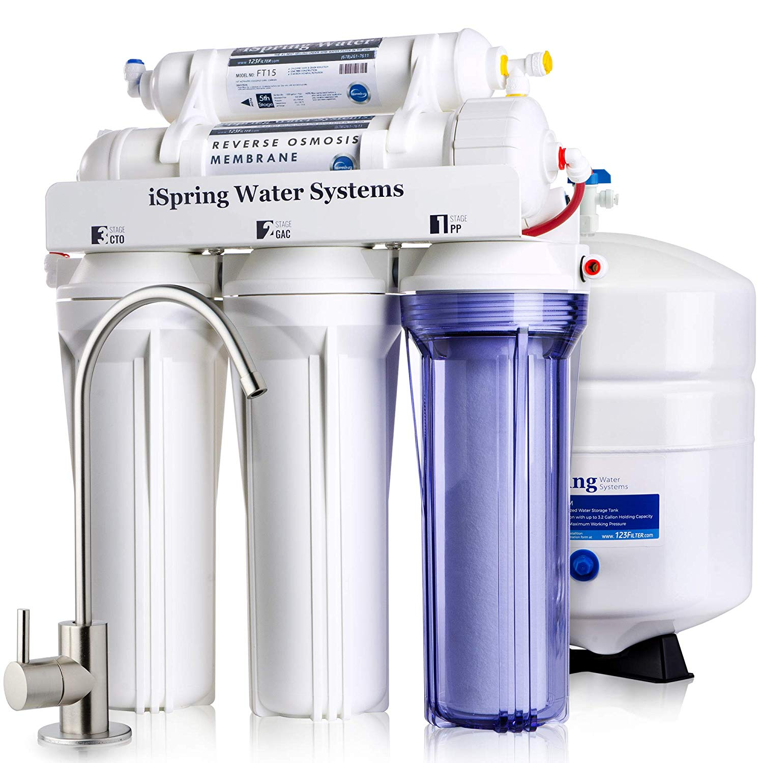 iSpring RCC7 High Capacity Under Sink 5-Stage - Water Purifier