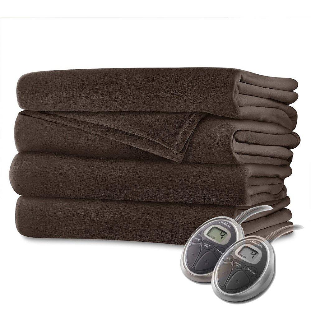 Sunbeam Velvet Plush Queen Heated Blanket - Electric Blankets