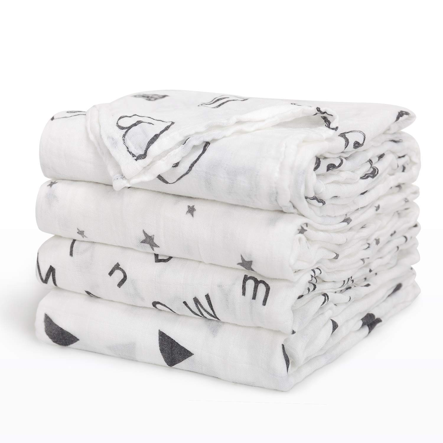 Baby Swaddle Blanket Upsimples Unisex Swaddle Wrap Soft Silky Bamboo - baby blankets