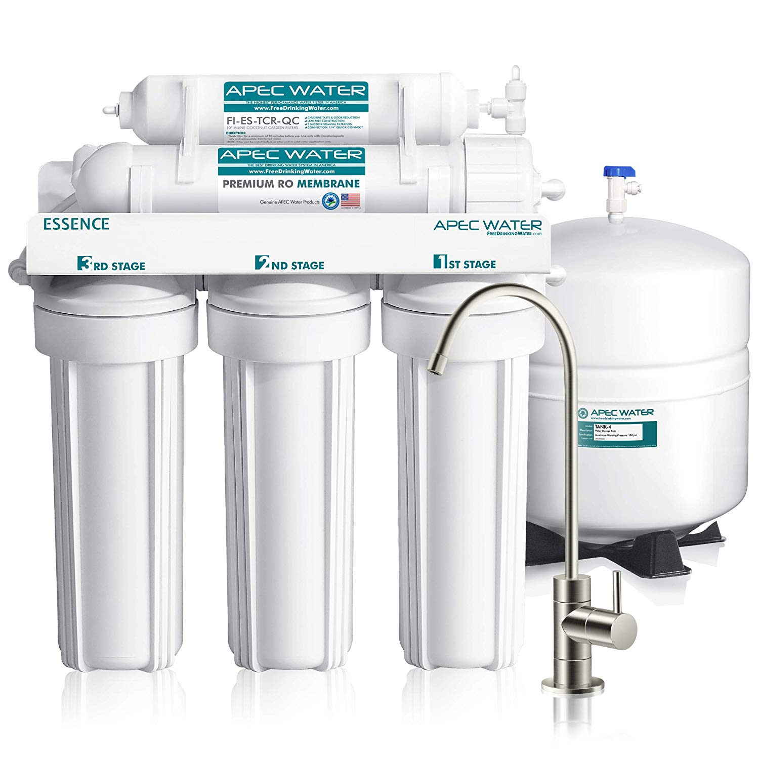 APEC Top Tier 5-Stage Ultra Safe Reverse Osmosis Drinking Water Filter System - Water Purifier
