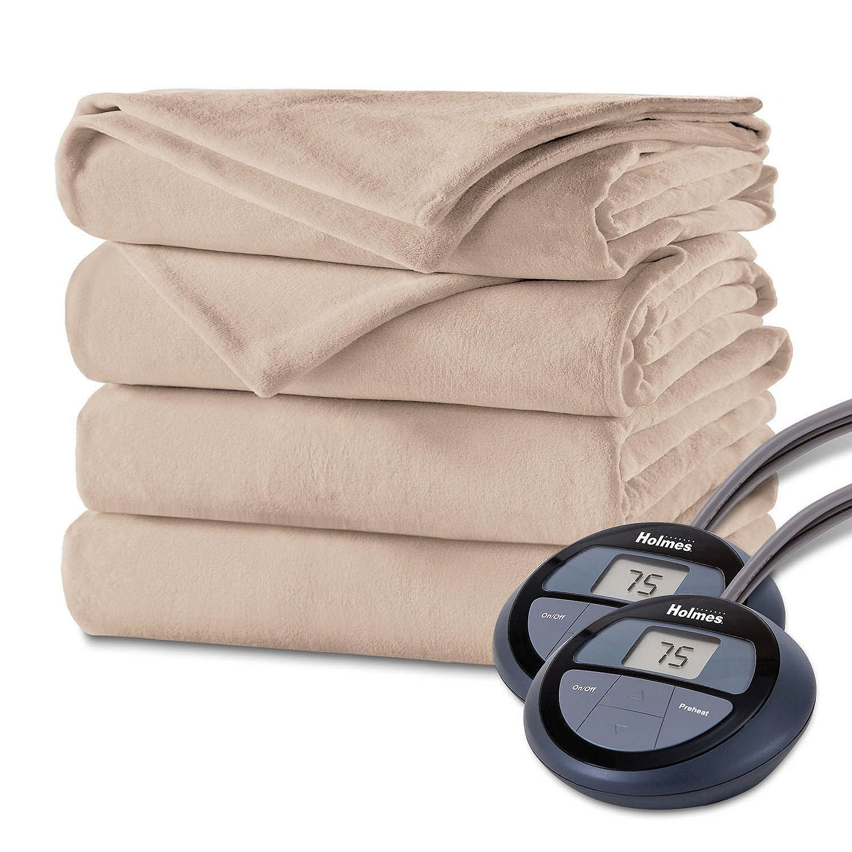 Holmes Luxury Velvet Plush Heated Blanket