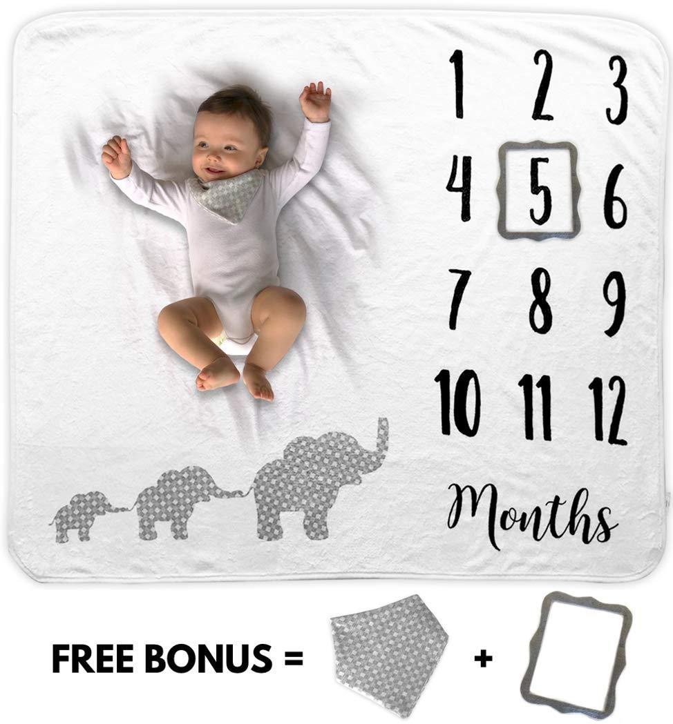Baby Monthly Milestone Blanket - baby blankets