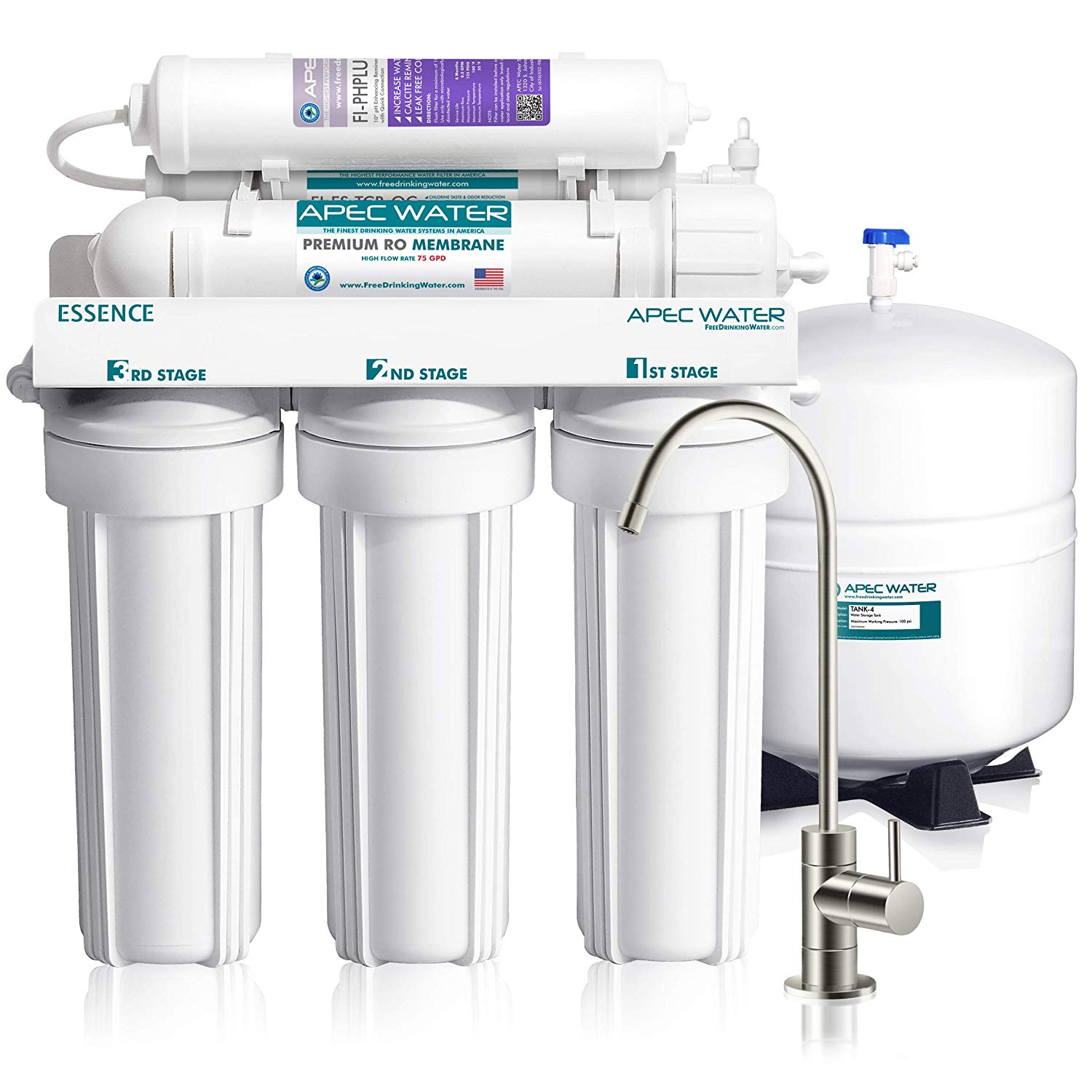 APEC Top Tier Alkaline Mineral pH+ 75 GPD 6-Stage - Water Purifier