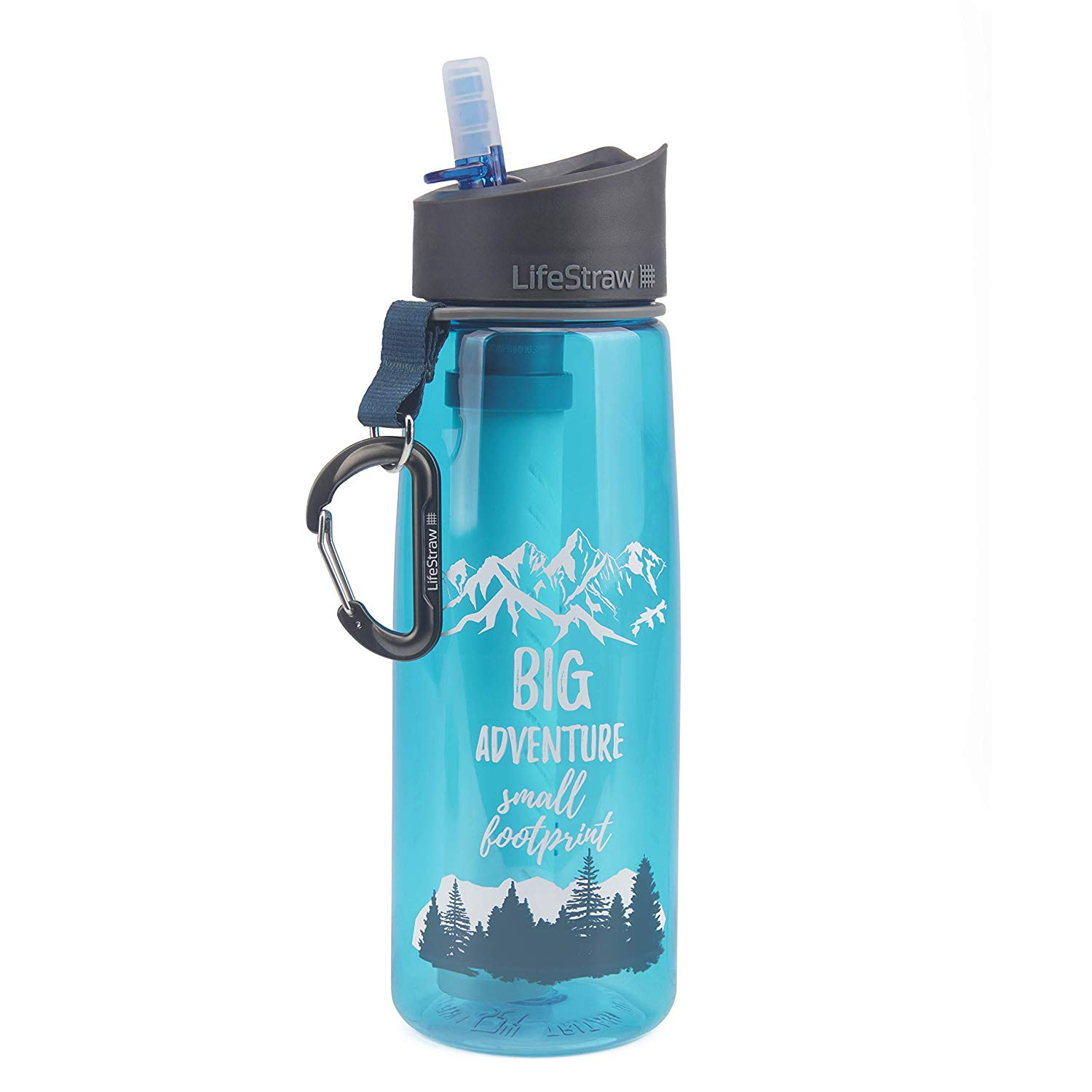 LifeStraw Go Water Filter Bottles with 2-Stage Integrated Filter Straw for Hiking - Water bottle with Filter