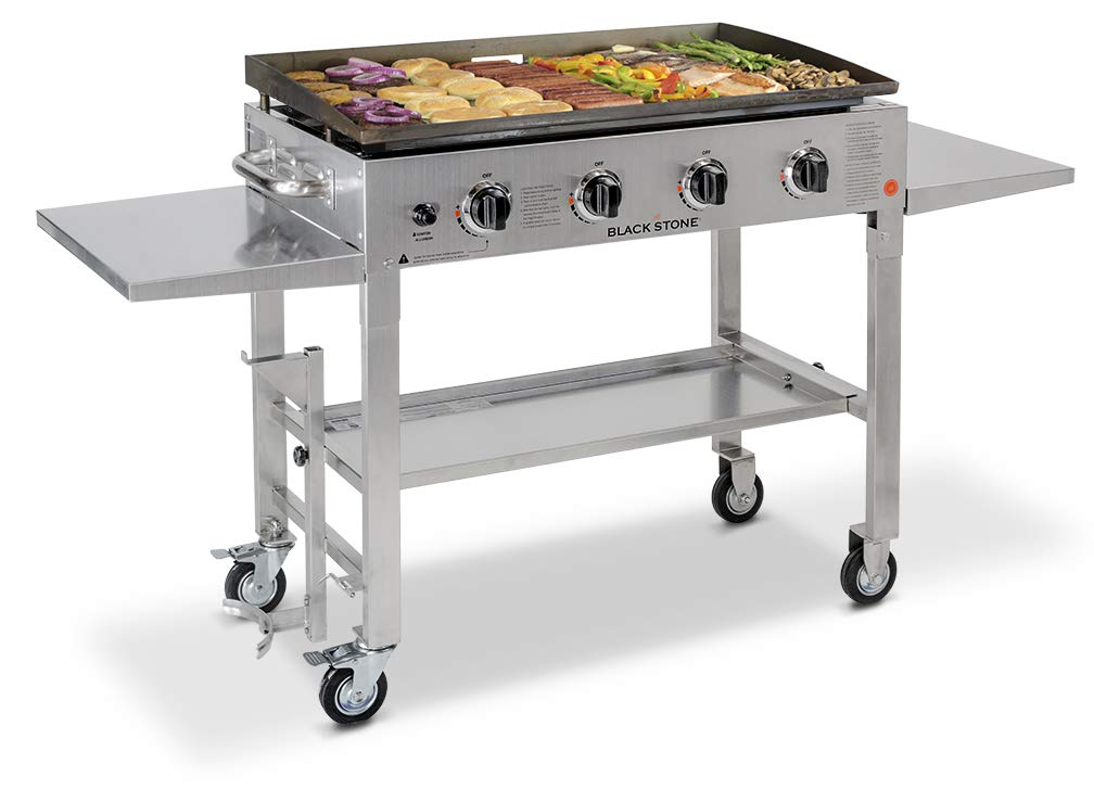Blackstone 36 inch Stainless Steel Outdoor Cooking Gas Grill Griddle Station - Blackstone Griddle
