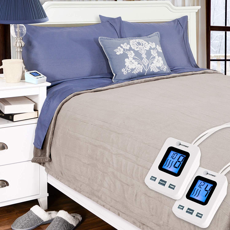 SimplyWarm Electric Heated Polar Fleece Blanket - Electric Blankets