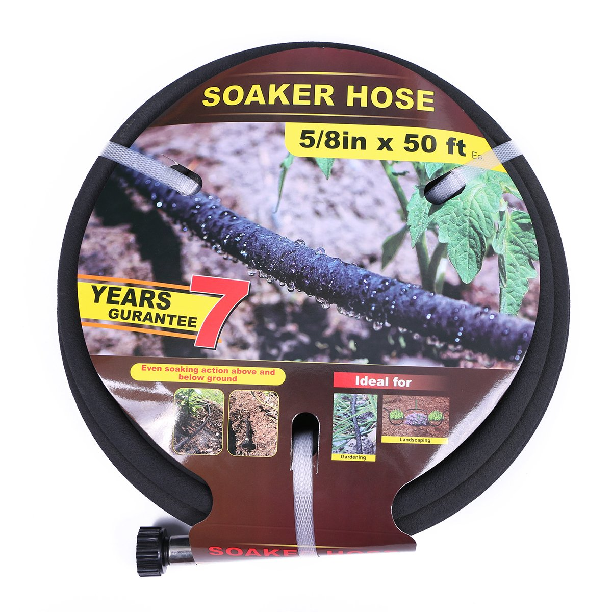 Taisia 5/8 inch Soaker Hose 50ft Lead Free Saves 70%Water