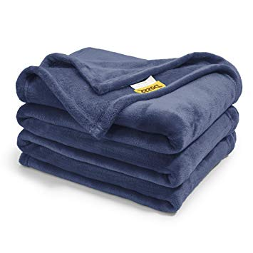 DOZZZ Oversize Flannel Throw Blanket with Cozy Plush Soft- Fleece Blankets