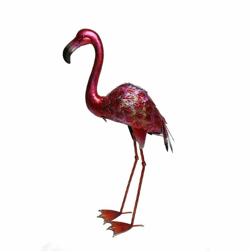Kircust Metal Flamingo Garden Statue and Sculpture - Garden Ornaments