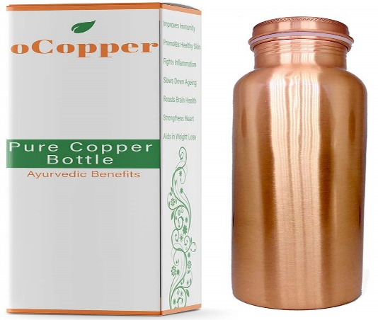 oCopper Pure Copper Water Bottle 34 Oz