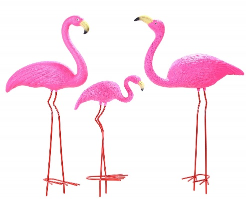Ohuhu Family Flamingo Yard Ornaments