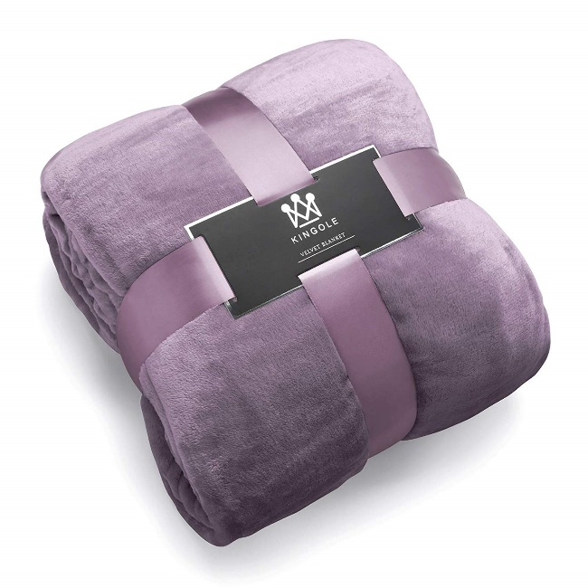 Kingole Flannel Fleece Microfiber Throw Blanket