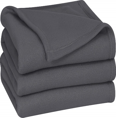 Utopia Bedding Fleece Blanket Twin Size Grey Lightweight Soft Warm Bed Blanket - Fleece blankets