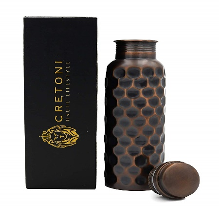 CRETONI Antique-Series Pure Copper Water Bottle