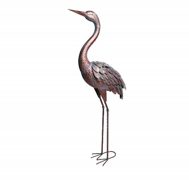 Kircust Garden Statues and Sculptures Metal Heron Decoy