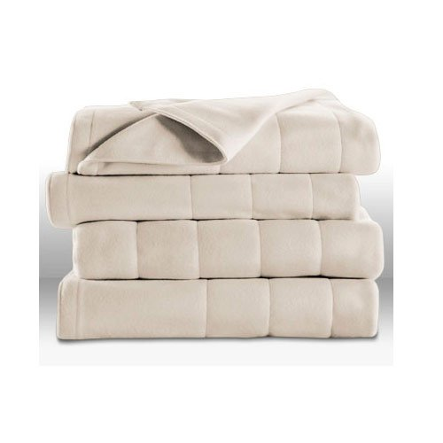 Sunbeam Queen Size Heated Electric Blanket Beige Color - Heated Blankets