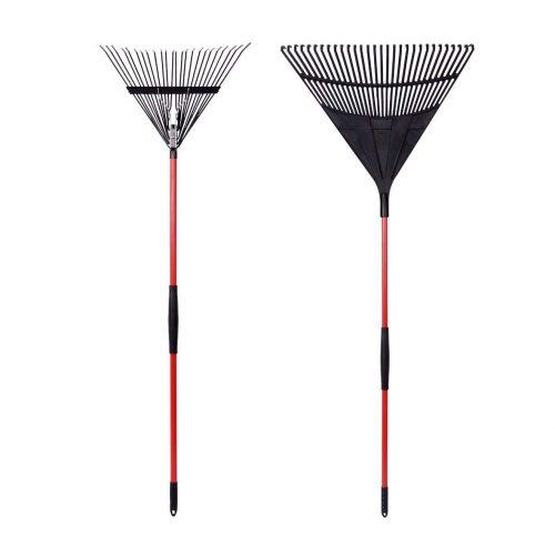 GardenAll 2-Pieces Garden Rakes Tool Set - Leaf Rakes