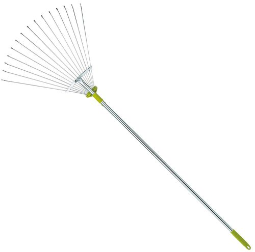 63 Inch Adjustable Garden Leaf Rake - Leaf Rakes