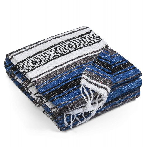 Mexican Blankets Authentic Falsa Thick Soft Woven Acrylic Yoga Serape