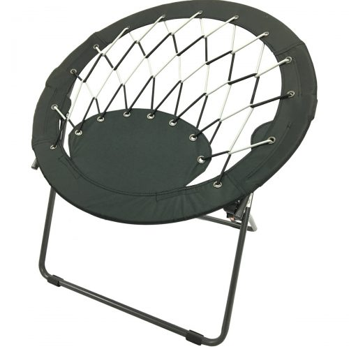 CAMPZIO Bungee Dish Chair Round Bungee Chair Folding Comfortable Lightweight Portable Indoor Outdoor