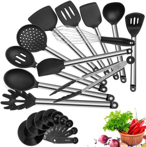 Kitchen Utensil Set, 21 Piece AILUKI Cook Utensil Set