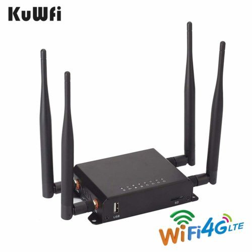 KuWFi 300Mbps 3G 4G LTE Car Wi-Fi Wireless Router