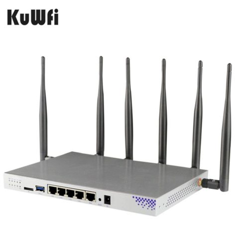 KuWFi 4G LTE 802.11AC 1200Mbps Dual Band 2.4-5.0GHz Wireless Wi-Fi Router - 4G Routers