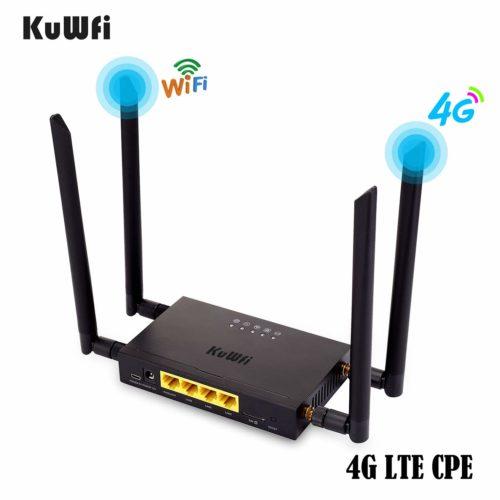 KuWFi 4G LTE Router - black