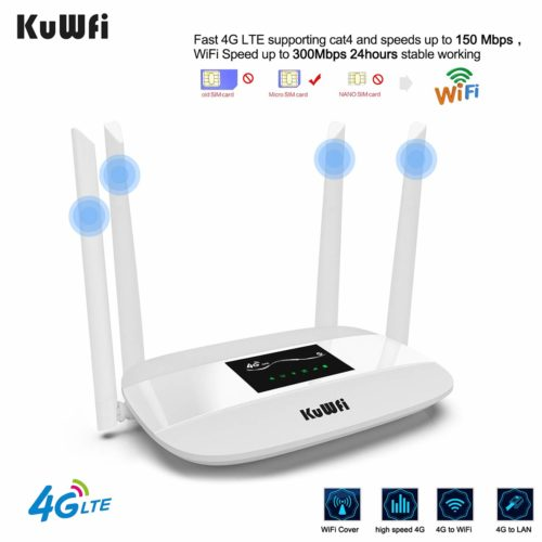 KuWFi white 4G routers