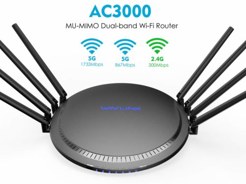 WAVLINK Wi-Fi Router AC3000 Wireless Tri-Band Gigabit Router/High-Speed Wi-Fi Range Extender